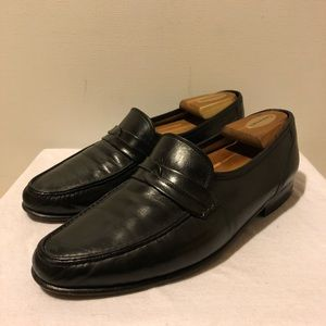 Bruno Magli Gilmore Black Leather Loafers